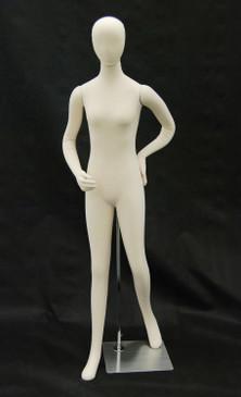 Cream Flexible Foam Female Mannequin MM-JF-F1SOFTX-FML