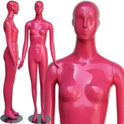 High-End Gloss Pink Abstract Female Mannequin w/face feature MM-165PK