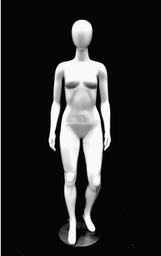 Glossy White Abstract Female Mannequin MM-GPX02W1EG