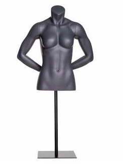 Matte Grey Female Headless Torso with Base MM-NI-13