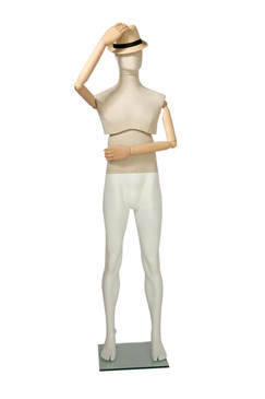 Flexible Articulated Male Mannequin Upper Linen Cover MM-MFLX01