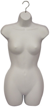 6 Units Hanging Display Female Body Form with Hook PS-FP119W color White