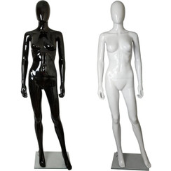 Glossy Plastic Egghead Female Full Body Mannequin with Removable Head MM-450
