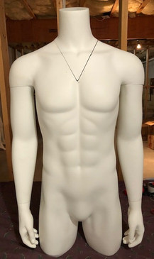 Free Shipping Used Ghost Matte White Male Headless Invisible Ghost Torso MM-TMW-IVGUSED