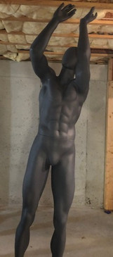 Free Shipping Used Athletic Matte Grey Male Basketball Player Mannequin MM-HEF66EG-USED