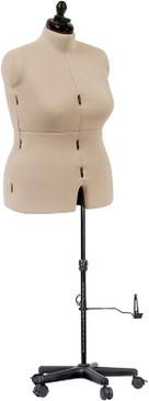 Adjustable Dress Form, Full-Figure, Ivory MM-20023