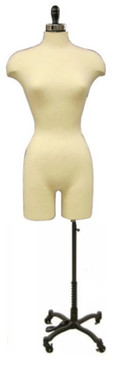 Cream Female Body Form with Legs and Caster Base MM-JF02WLGC