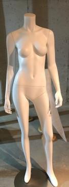Used Carmen 3, Fiberglass Headless Female Mannequin Matte White MM-A3BW2USED-2
