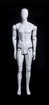 Flexible Articulated Male Mannequin Gloss White MM-HM01WEG