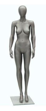 Tee, Metallic Steel Grey Abstract Female Mannequin MM-TAE06