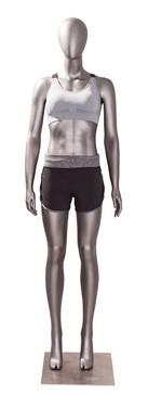 Erin 3, Matte Grey Athletic Female Sports Mannequin MM-JSW03