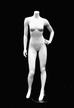 Fiberglass Headless Female Mannequin Gloss White MM-GPX03BW01