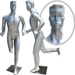 Fiberglass Full Body Abstract Male Mannequin in Running Jogging Pose MM-253 SALE