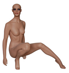 Seated Female Mannequin Tan Skin Tone MM-FR7