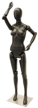 Flexible Female Mannequin Black MM-FFXBEG