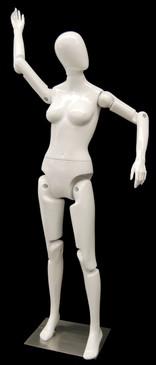 Flexible Female Mannequin Gloss White MM-FFXWEG