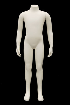 Fiberglass Headless Child Mannequin Matte White MM-CW6Y