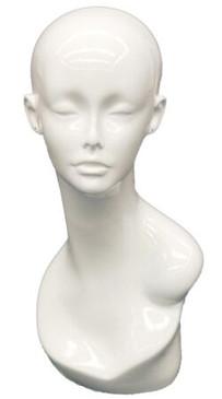Gloss White Female Display Head MM-TW