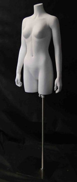 Matte White Female Headless Torso with Base MM-TFW