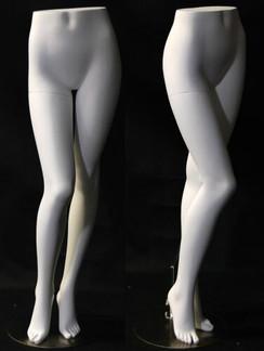 1c0e8a69620 Matte White Female Display Leg Form MM-FL9