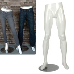 Gloss White Male Mannequin Leg Form MM-PFM1