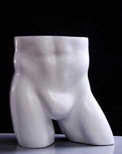 Gloss White Fiberglass Male Buttocks Form MM-TB2