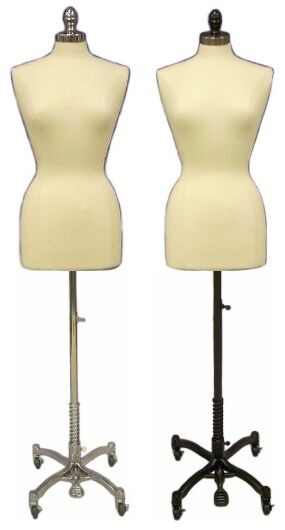 Cream Female Body Form Plus Size 14/16 with Caster Base MM-JF14/16C ...