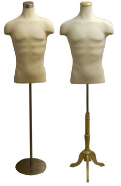 Cream Male Shirt Body Form with Base MM-JF33DD01