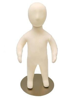 3 Months Old Poseable Baby Mannequin with Flexible Arms MM-JFCH03M