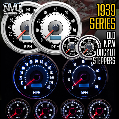 LED stepper retro vinatge gauges