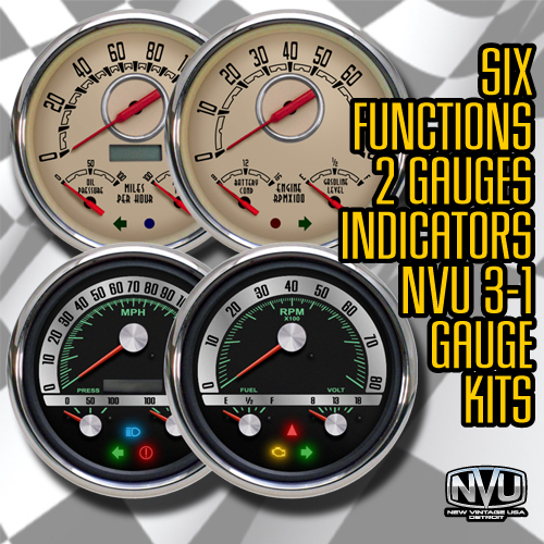 custom hot rod vintage gauges musclecar dash 68 camaro gauges