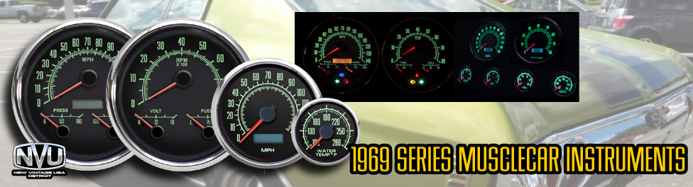 NVU 69 series gauge-the original musclecar inspired instruments