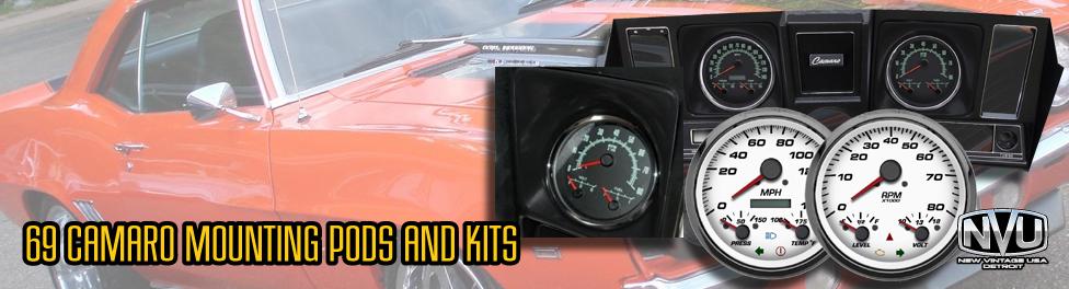 69 camaro custom aftermarket gauges