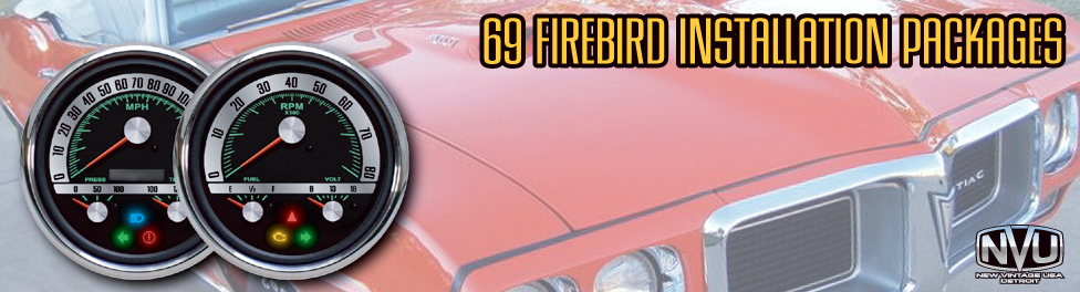 69 firebird custom aftermarket gauges kit