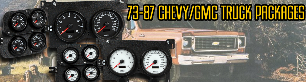 73-87 Chevy and GMC truck gauge packages