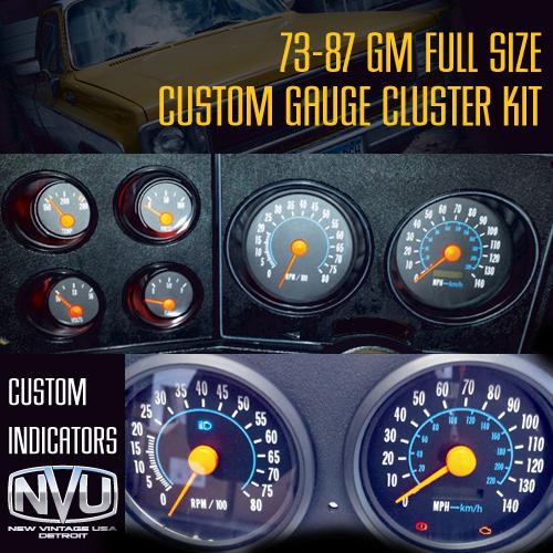 custom oe style dash cluster gauges truck