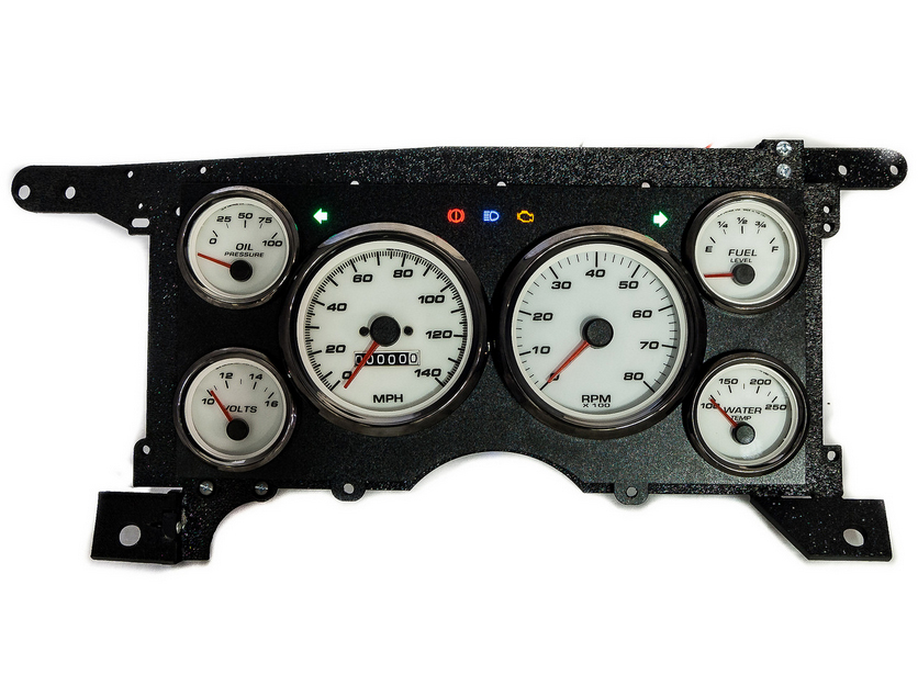88 s-10 custom aftermarket gauges