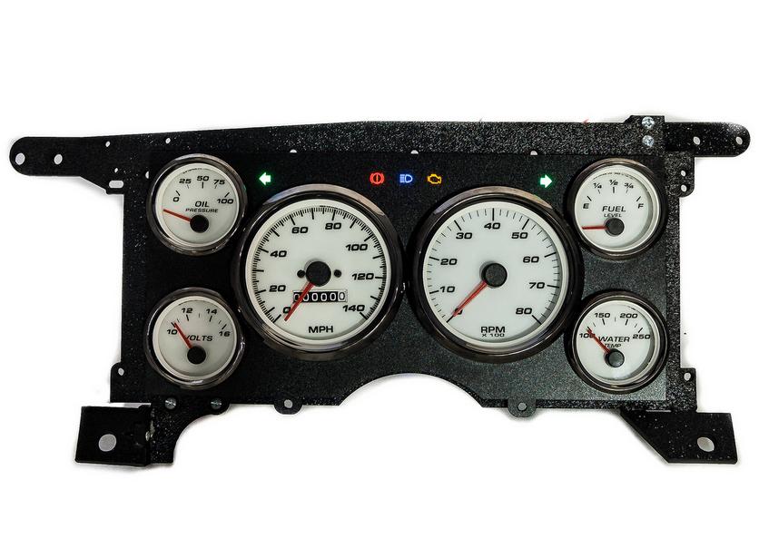 88 s-10 custom aftermarket gauges
