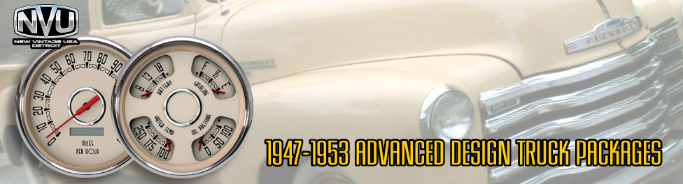 47-53 AD Chevy Truck aftermarket instrument packages