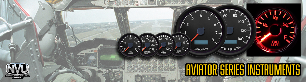 Aviation military plane airplane tank gauges with LED stepper motor tachnologu