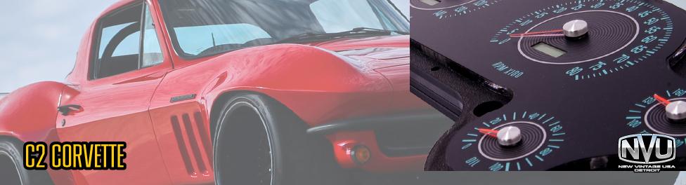 C2 Corvette 63-67 custom aftermarket gauges instrument dash kit