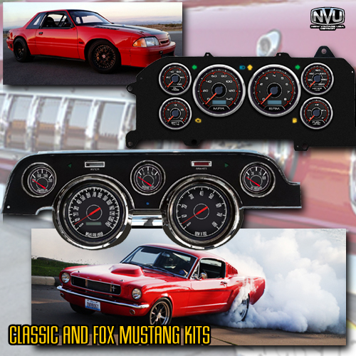 classic mustang fox mustang dash gauges aftermarket