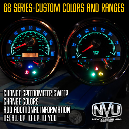 custom gauges overlay dial design lighted