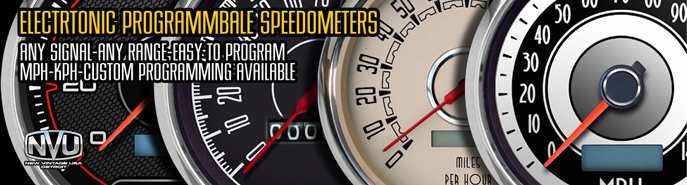 electronic speedometers are also sometimes referred to as programmable  speedometers, the terms are not interchangable however  electronic  speedometers have