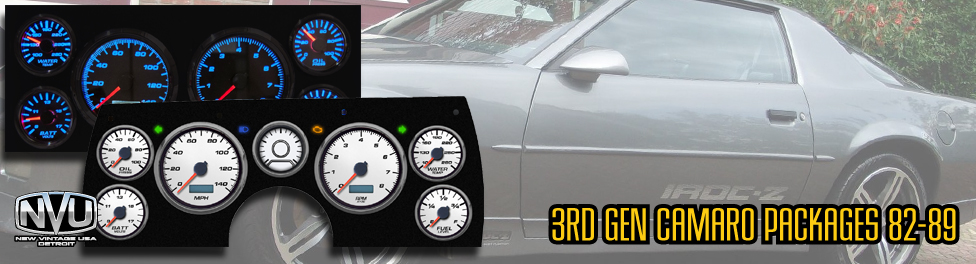 3RD GEN CAMARO GAUGES AFTERMARKET CUSTOM CLUSTER