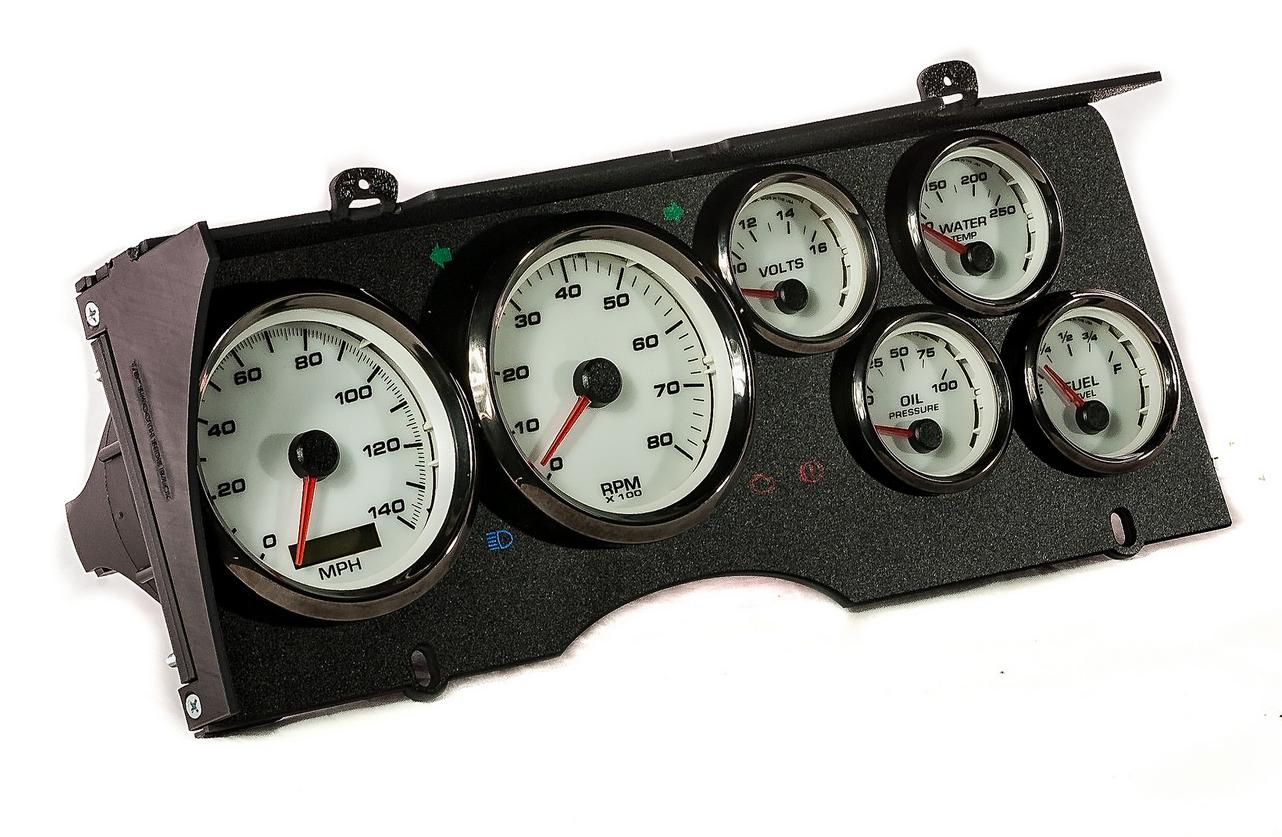 custom malibu gbody gauge cluster dash