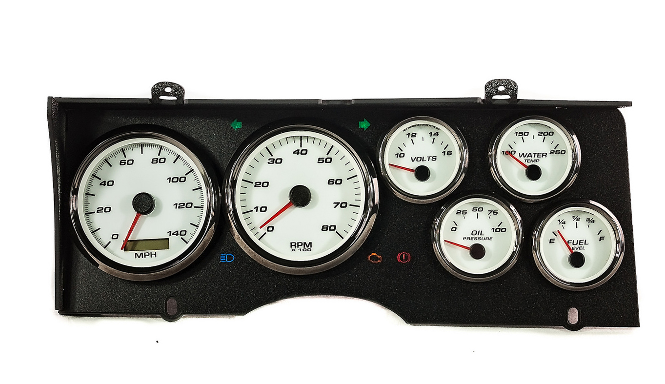 gbody monte carlo custom sweep dash gauges aftermarket
