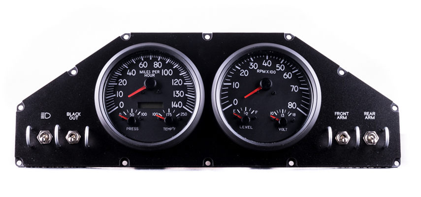 military gauges custom panel