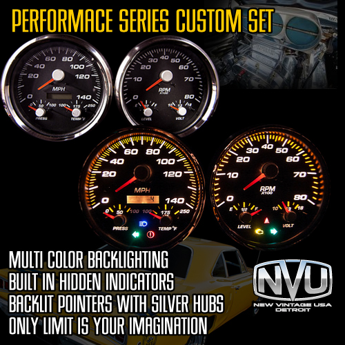 custom gauges color graphics