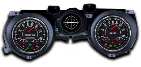 71-73 mustang custom aftermarket gauges NVU